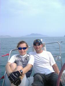 Knowlesy proudly wearing his NSSA regatta cap!