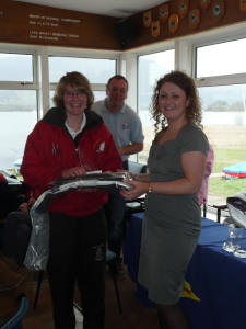 Overall winner Felicity Foulds with Claire Kirkpatrick