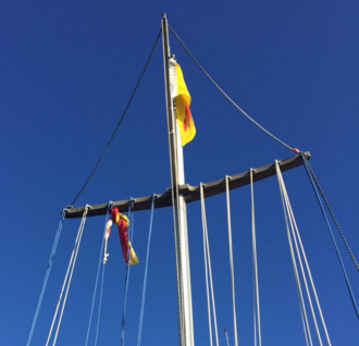 Knotted flag